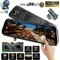 "10"" HD 1080P Dual Lens Car DVR Dash Cam Video Camera Recorde"