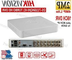 Hikvision 2MP 16CH DVR DS-7116HQHI-K1 Plus 8CH IP Record 108