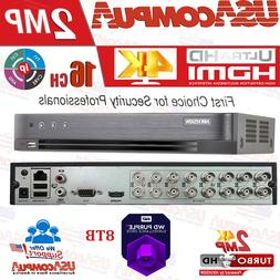 Hikvision 2MP 16CH DVR DS-7216HGHI-K1 4K-UHD + 2CH IP Record