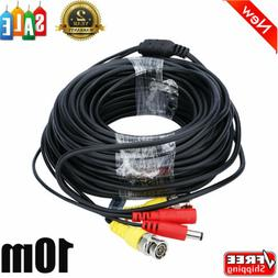2x 33FT CCTV DVR Camera Recorder Video Cable DC Power Survei