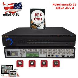 32 Ch Channel Home Professional Security DVR Recorder 960H F