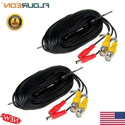 2x 66FT CCTV DVR Camera Video Recorder Cable Power Security