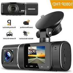 "4"" Dash Cam 1296P HD 170° Dash Camera Touch Screen with Rea"