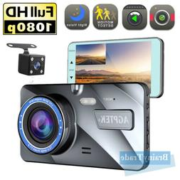"4"" Vehicle 1080P Car Dashboard DVR Camera Video Recorder G-S"