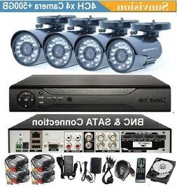 4CH 960H/ D1 H.264 Digital Video Recorder 4x In/Outdoor 480L