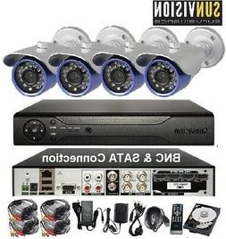 4CH 960H/ D1 H.264 Digital Video Recorder 4x In/Outdoor 600L
