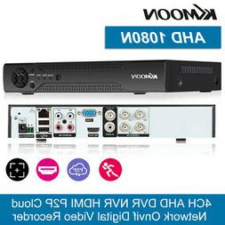 KKMOON 4Channel DVR 1080P AHD H.265+ Video Recorder for Secu