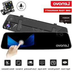 """Lenovo HD 1080P Touch Car DVR 4.5"""" Dash Cam Front and Rear C"""