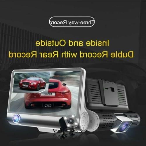 "1080P 4"" Lens HD Car Video Camera G-Sensor"