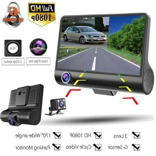 1080p 4 dual lens hd car dvr