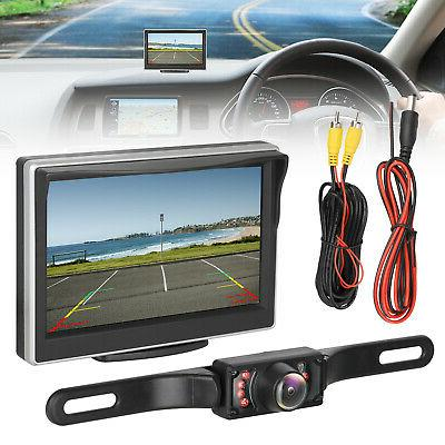 5'' IR Backup Camera Monitor HD Car Auto Rear View Parking S