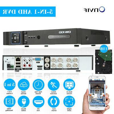 OWSOO 1080P 5IN1 AHD DVR Recorder for Surveillance P4H0