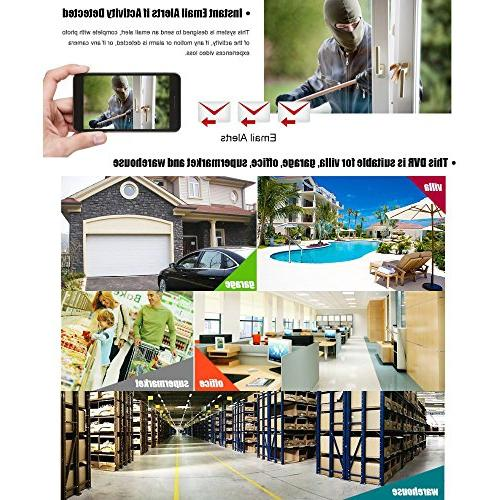 ANRAN 4 Channels 960H Detection 4CH Surveillance Security System Video
