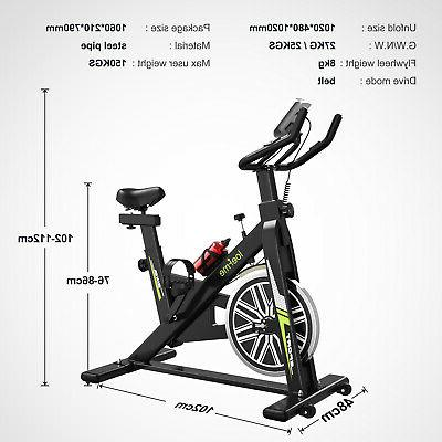 Exercise Bike Bicycle Cycling Workout + LCD