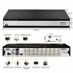 ZOSI H.265+ 16 Channel 1080p HDMI Hybrid DVR Recorder for Se