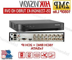 Hikvision TurboHD 2MP 16CH Hybrid DVR/XVR DS-7216HGHI-K1 + 2