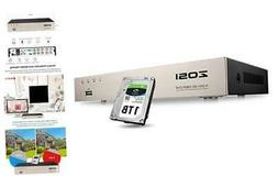 ZOSI 8CH 1080P Surveillance DVR Video recorders with 1TB Har